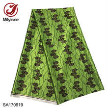 2019 latest African printing satin fabric 5 yards high quality polyester Ankara style for clothing dresses SA170916