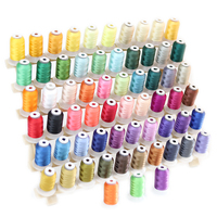 63 Brother Colors Polyester Embroidery Machine Thread Kit 40 Weight for Brother Babylock Embroidery and Sewing Machines
