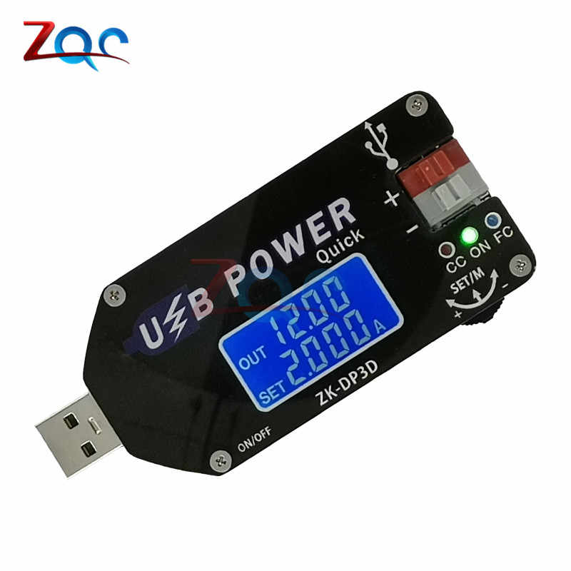 Convertisseur USB 3.0 CC CC CV 1-30V 2A 15W | Convertisseur Step Up Boost, tension constante réglable, alimentation régulée QC2.0 AFC