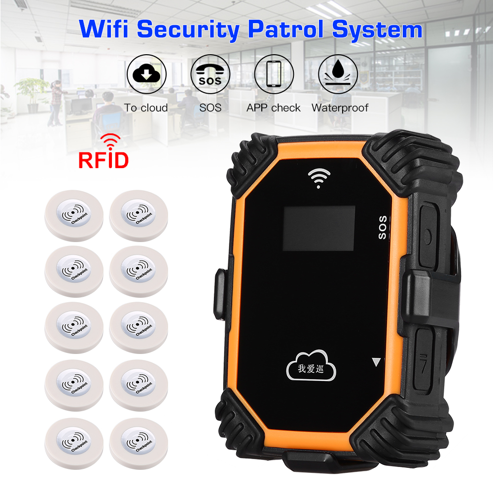 Mini Wifi Real-time Guard Tour Security Patrolling System With LCD Display