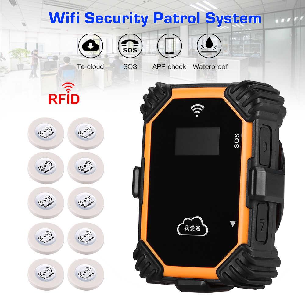 Mini sistema de patrulhamento da segurança da excursão do guarda em tempo real de wifi com visor lcd