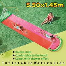 Water-Toys Slide-Game Rider Lawn Swimming-Pool Garden Outdoor Inflatable Summer Kid Waves