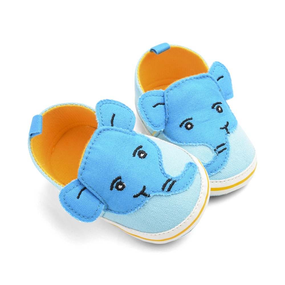 First Walkers For Baby Girls Boys Breathable Cartoon Elephant Design Anti-Slip Shoes Casual Sneakers Toddler Soft Soled 0-18M