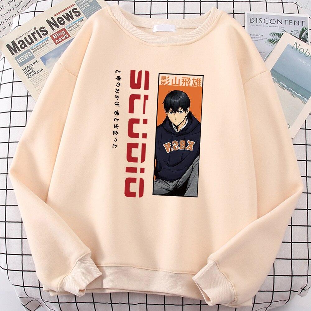 Studio Anime Style Men Hoodies Personality Slim Sweatshirts Casual Oversized Clothing Fashion Loose Hoodie Hoodie Crewneck Hoody