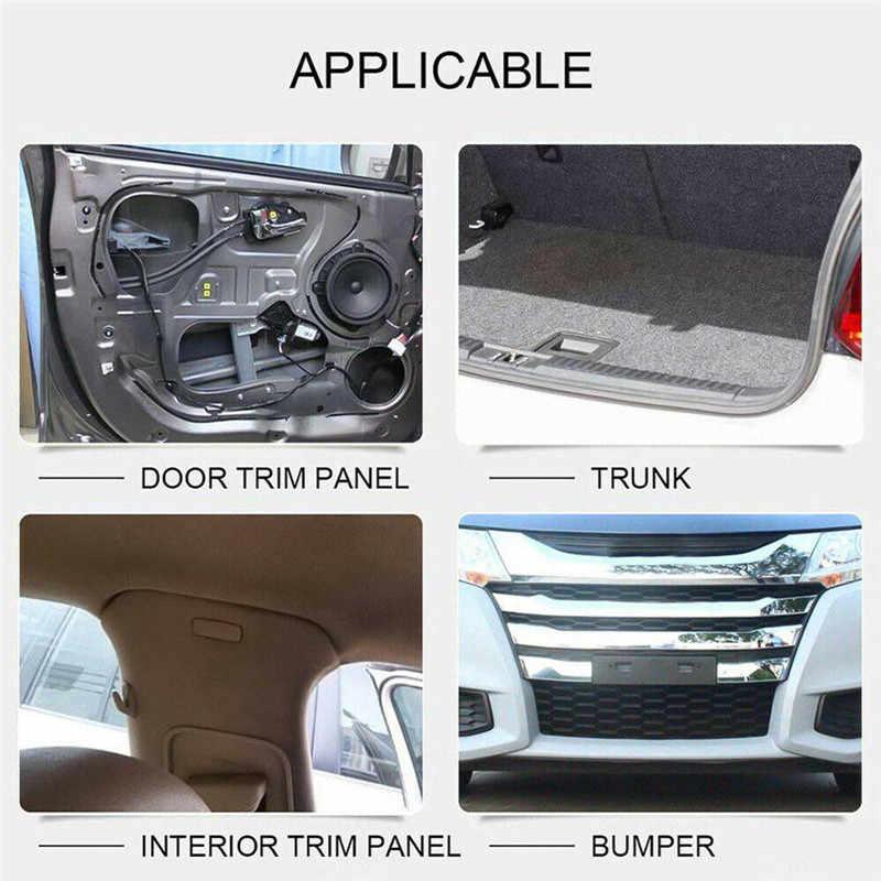 100 adet 8mm delik otomatik klipler araba tampon kapı Trim paneli plastik perçinler ön damper çamurluk raptiye itme pimi klipleri