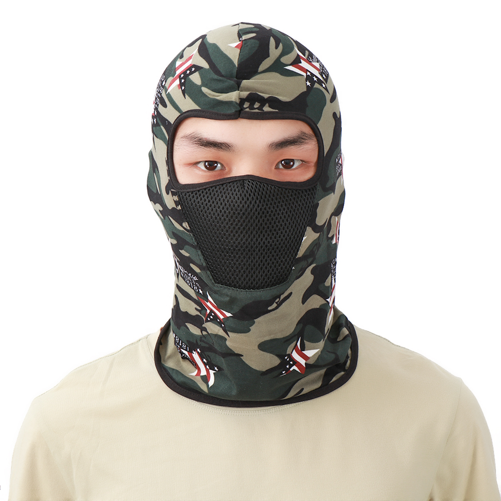 Camouflage Full Face Mask Windproof Hat Cap Warmer Motorcycle Balaclava Breathable Airsoft Paintball Cycling Anti-UV Men Helmet