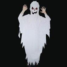 Umorden男の子白不気味な怖いゴースト衣装コスプレ子供のための子供ローブハロウィンpurimパーティーマルディグラマスカレードファンシードレス