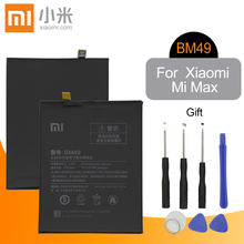 Original For XIAOMI Mi Max Battery BM49 For Xiao mi Mi Max Battery Cover mi max1 BM49 Replacement Phone Batteria 4760mAh +Tools