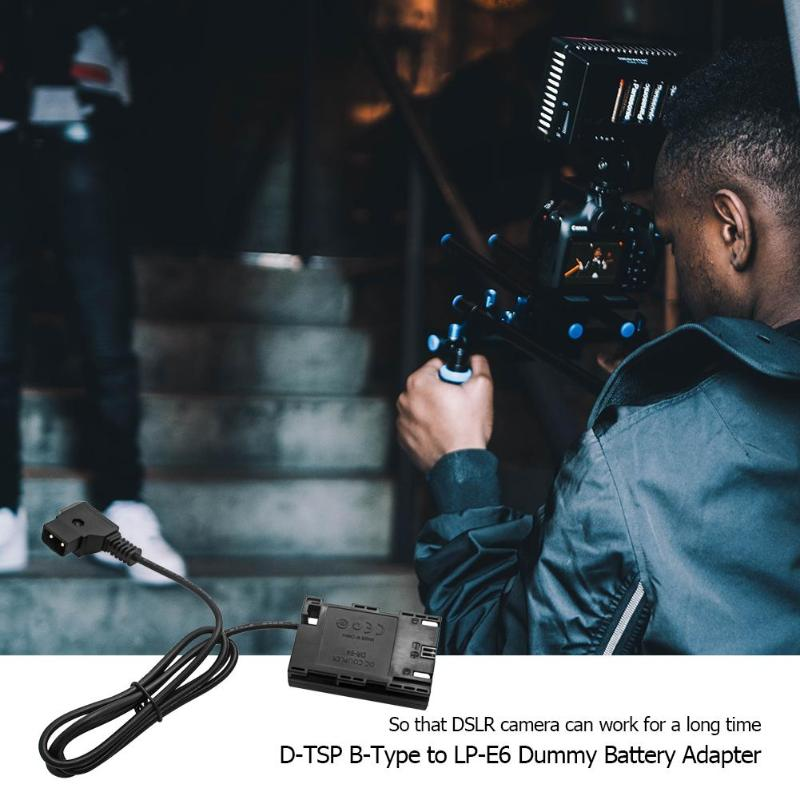 D TSP to LP E6 DSLR Dummy Battery Video/Astronomical Shooting Delayed Exposure Adapter Power Supply B Type Adapter for Canon|Battery Accessories| |  - title=