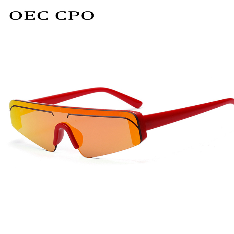 OEC CPO Unisex Fashion Celebrity Sunglasses For Women One Lens Sunglasses Men 2019 High Quality Luxury Sun Glasses Black O195