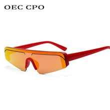 OEC CPO Unisex Fashion Celebrity Sunglasses for Women One Lens Men 2019 High Quality Luxury Sun Glasses Black O195