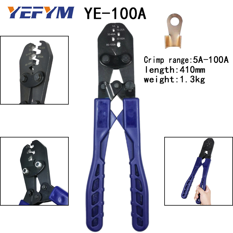 Tools : Crimping plier tools for OT opening terminal capacity 5A-200A wire high-strength alloy integrated molding electrician tools