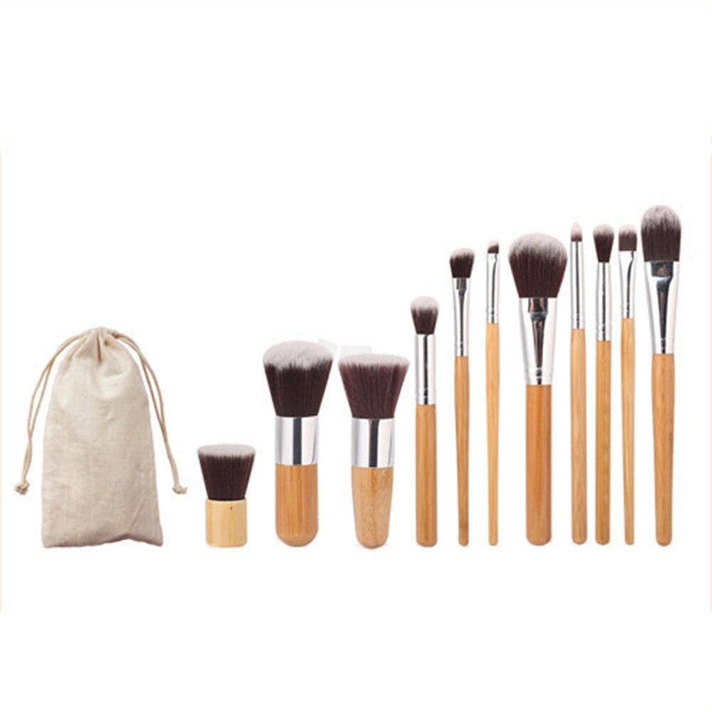 11 pçs pincéis de maquiagem profissional fundação blush sombra de olho escova rosto kit ferramenta beleza quente adequado para uso profissional
