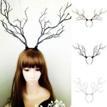 Women Christmas Antler Headband Hair Hoop Cosplay Party Accessory Prop Cute Hair Accessories Xmas interestings Hairband(China)