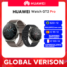In lager Globale Version HUAWEI Uhr GT 2 pro SmartWatch 14 tage Batterie Lebensdauer GPS Drahtlose Lade Kirin A1 GT2 pro