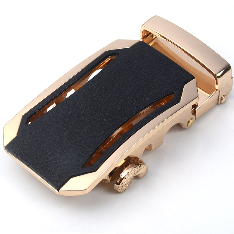Fashion Luxury  Alloy Automatic Genuine Leather Belt Buckles For  Men Pants Buckles 3.5cm Ratchet Accessories