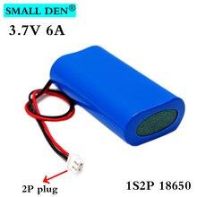 3.7V 18650 1S2P 6000mAh akumulator litowy wielokrotnego ładowania pakiet połowów LED światła głośnik Bluetooth 4.2V awaryjne DIY baterii