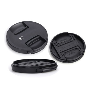 Image 5 - 30pcs/lot High quality 49 52 55 58 62 67 72 77 82mm center pinch Snap on cap cover for canon camera Lens