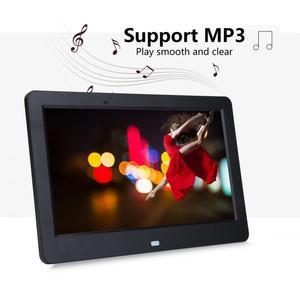 Image 3 - Cadre Photo numérique ultra mince HD 10 pouces écran LED rétro éclairage électronique Album Photo image musique lecteur de film télécommande