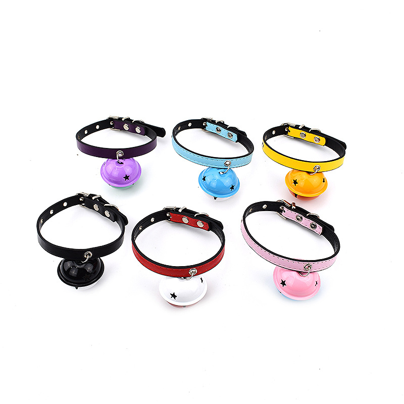 Feng Pei New Style Color Pet Collar With Color Bell Sound Making Dog Collar Pet Accessories Neck Ring