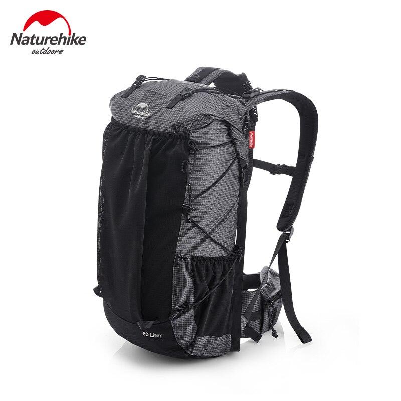 Naturehike Waterproof Hiking Backpacks 60+5L Large Capacity Travel Backpack 1.16kg Lightweight Hiking Bag Aluminum Frame