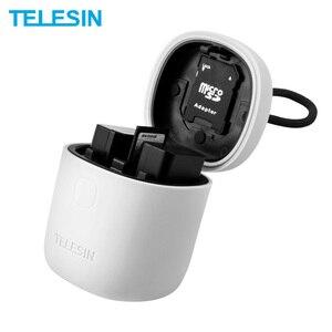 Image 1 - TELESIN 2 paket NP FW50 pil ve 2 yuvaları şarj USB kart okuyucu saklama kutusu Sony NP FW50 A7r2 A6000 pil