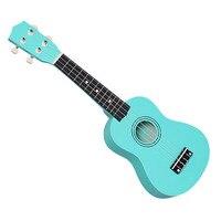 21 дюймов Сопрано Гавайская гитара ручной работы, выполненная из красного ель Сапеле четыре строки пластиковые