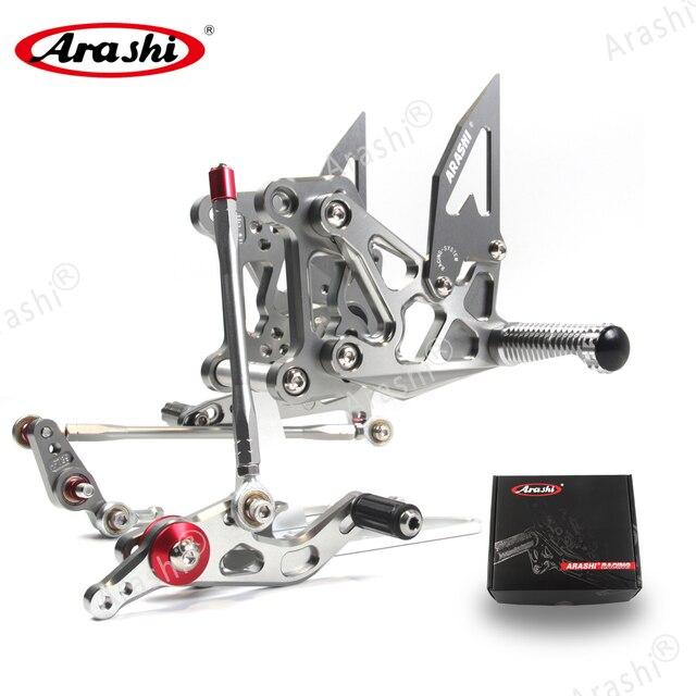 Arashi For MV AGUSTA Dragster 2012 2016 CNC Rider Rearset Adjustable Footrests Foot Pegs 675 EAS Brutale 675 2012 2013 2014 2015