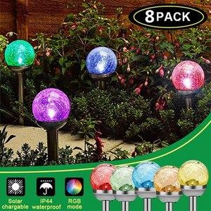 4/8Pcs Solar Garden Light Lant