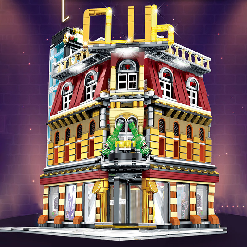 Yeshin SD6991 The MOC Singing Club With Led Parts