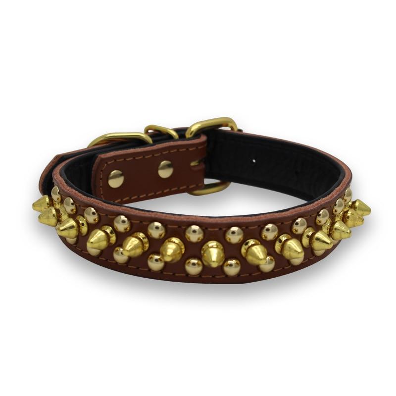 Anti-Bite Rivet Dog Neck Ring Embossed Leather Pet Collar Small And Medium Pet Collar