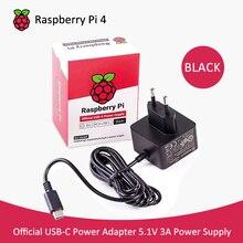 Официальный raspberry pi 4 блок питания USB-C адаптер 5,1 В 3A адаптер ЕС/США рекомендуемый USB-C источник питания для raspberry pi 4b
