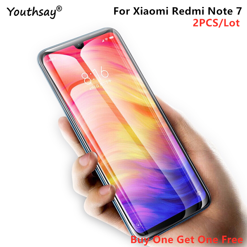 2PCS For Xiaomi Redmi Note 7 Glass 7A 8A 6A Screen Protector Tempered Glass For Xiaomi Redmi Note 7 Glass Redmi Note 7 Youthsay