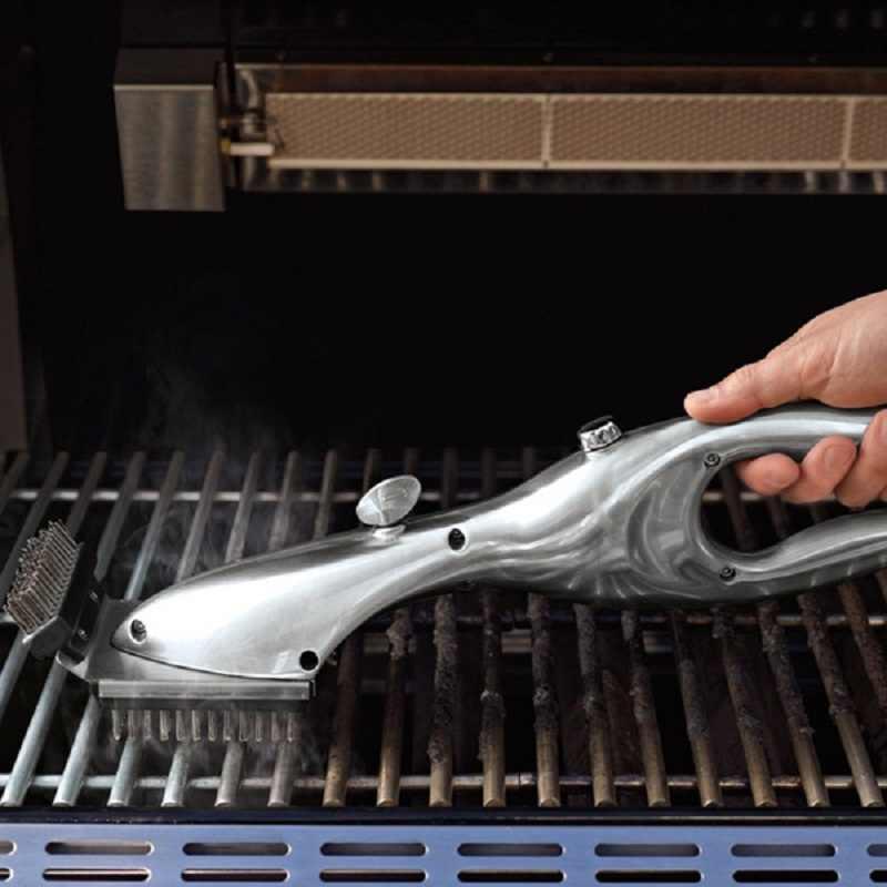 Barbacoa de acero inoxidable barbacoa cepillo de limpieza al aire libre PARRILLA limpiador con energía de vapor accesorios de barbacoa herramientas de cocina