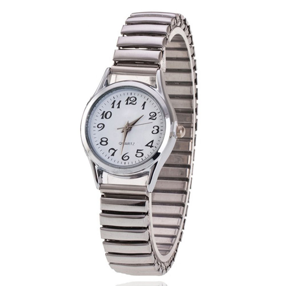 Men Quartz Watch Stainless Steel Band Alloy Lover Business Movement Wristwatch Elastic Strap Band Couple Wrist Clock reloj <font><b>mujer</b></font> image