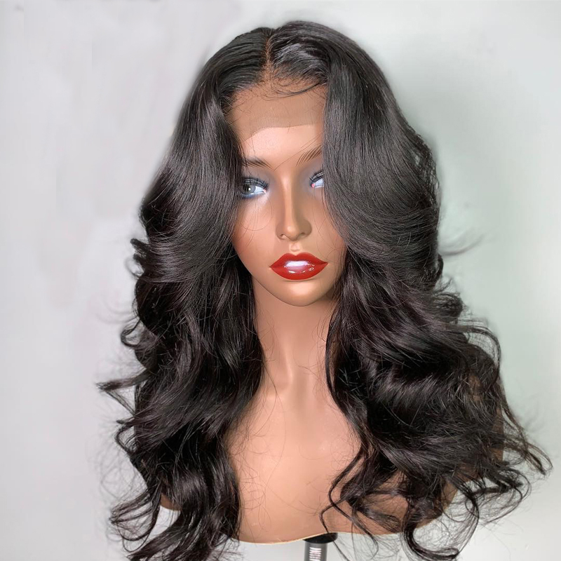 Eversilky Brazilian  Body Wave 13x4 Lace Front Wigs Pre Plucked Remy Human Hair Wigs Pre Plucked Baby Hair Bleached Knots
