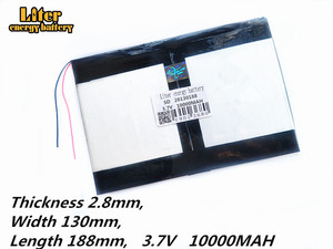 Image 2 - Tablet PC talk9x u65gt,battery 28*130*188 3.7V 10000 mah Li   ion battery for
