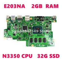 E203NA N3350 CPU 2GB RAM Mainboard Für ASUS E203 E203N E203NA Laptop motherboard E203NA Motherboard Test OK(China)