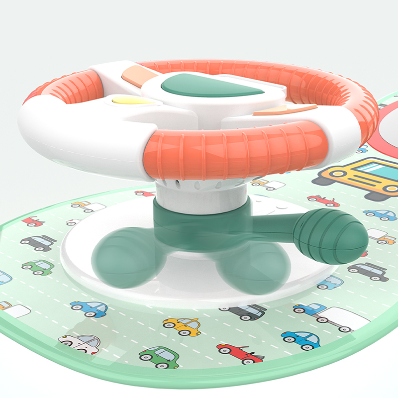 Baby Kids Eletric Simulation Steering Wheel Musical Developing Educational Toys Car Seat Early Education Sounding Infant Kid Toy 4