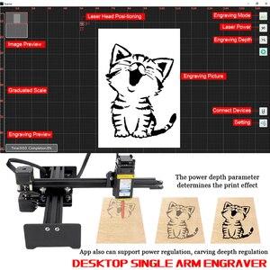 Image 3 - KKMOON graveur de bureau Portable professionnel, Machine à graver, DIY, 10000 bois, CNC mW