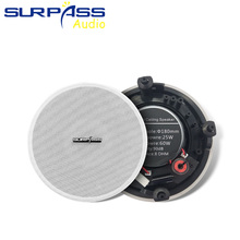 Frameless Narrow Edge Shell PA System Speaker 5.25inch Coxial Ceiling Speaker Passive Speaker For Home Background Music System