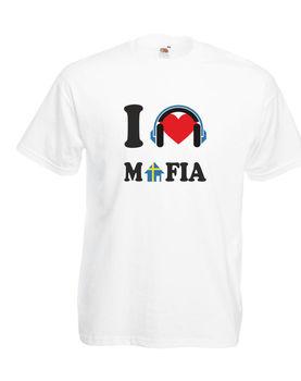 Me encanta la Mafia sueca sueco Casa de la Mafia en los hombres de camiseta de Hip Hop para hombres, camiseta rock t Unisex camiseta de moda