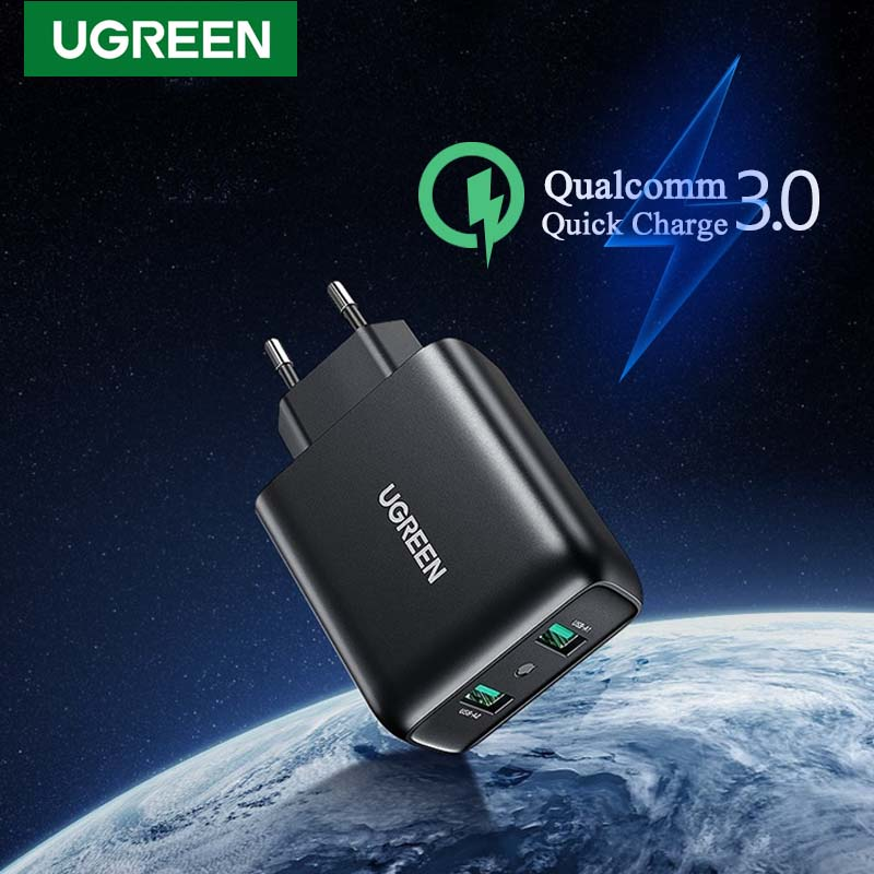 Ugreen 36W USB Phone Charger Quick Charge 3.0 Universal Mobile Phone Fast Charger for iPhone Samsung Xiaomi EU Plug Wall Adapter|Mobile Phone Chargers| - AliExpress