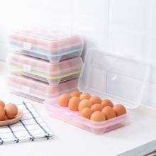 Kitchen Supplies 15 Grid Transparent Egg Refrigerator Storage Box Portable Outdoor Anti-collision Plastic Egg Box Food Container(China)
