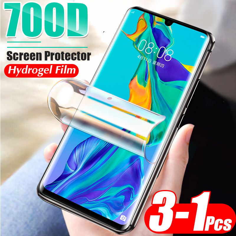 3-1 Pcs 700D Soft Hydrogel Film For Huawei P40 Lite E P30 Pro P20 Screen Protector Mate 30 20 Pro Full Protective Film Not Glass(China)