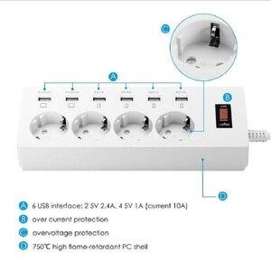 Image 3 - Power Streifen 2/3/4 EU Outlets Steckdose mit USB Quick Charge Port für Smartphones Verlängerung Kabel 1.5/1.8/ 3M Adapter Dock