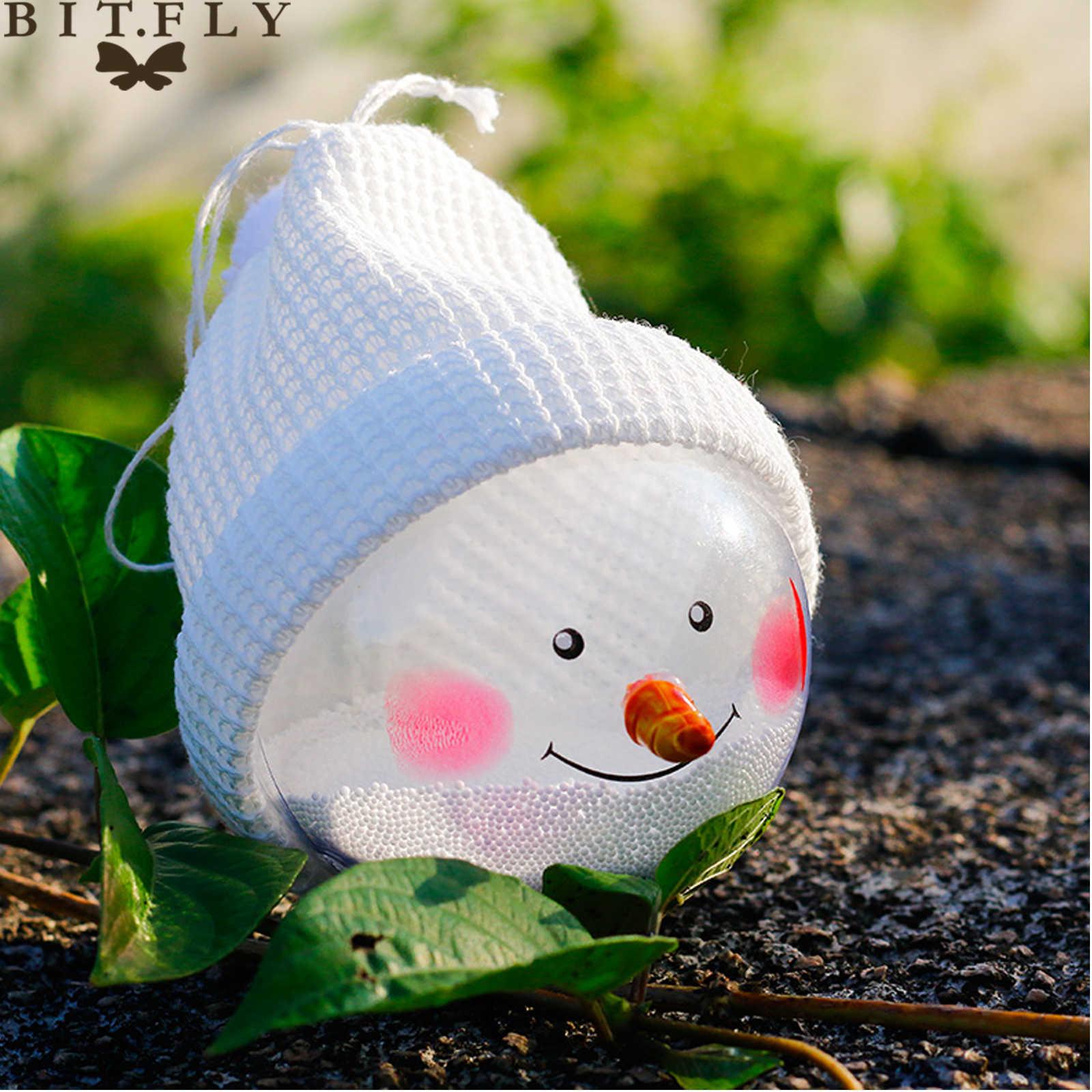 BITFLY ใหม่คริสต์มาสหมวกโปร่งใส Snowman จี้แขวนตกแต่งบอลเด็กของขวัญตุ๊กตา snowman ตกแต่งปีใหม่