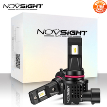 NOVSIGHT minifaros LED blancos para coche, lámparas de 12000LM, 9005 K, H11 H4 H7 9006 HB3 HB4 H1 H3 55W 6000K, 2 uds.