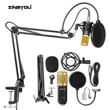 100% Original ZINGYOU BM 800 Studio Microphone Professional Bm800 Condenser Sound Recording Microphone for Computer bm 800 studio condenser microphone v8 audio usb headset microphone smartphone sound card e300 wired for computer