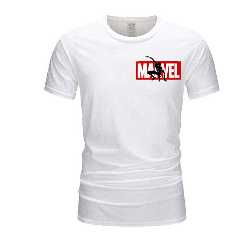 Marvel, супергерой, футболка, Мстители, для мужчин/женщин, Повседневная футболка, модные бренды, для мужчин, хлопок, короткий рукав, летняя